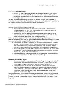IB HL Lang Lit Exam Prep - Paper 1 May 2015 Teaching Notes and Exemplars