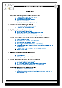IB History - Austro-Prussian War Assignment