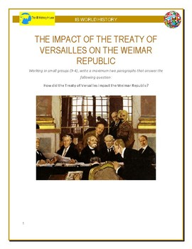 IB History - Impact of the Treaty of Versailles on the Weimar Republic