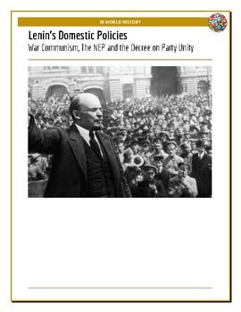 IB History - Lenin's Domestic Policies
