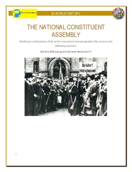 IB History - National Consituent Assembly