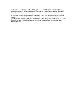 IB History- OPVL Exercise