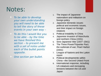 IB History - Paper 1: Move to Global War (Japan)