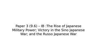 IB History:The Rise of Japanese Military Power