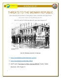 IB History - Threats to the Weimar Republic