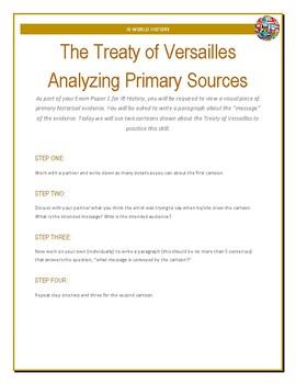 IB History - Treaty of Versailles Cartoon Analysis