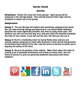 IB ITGS Social Media Group Assignment Sociology Computer T