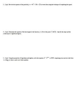 IB Individual Test Derivatives Spring 2013 (Editable)