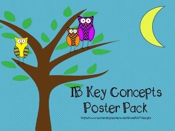 IB Key Concepts Poster Pack-Chevron Owl Theme