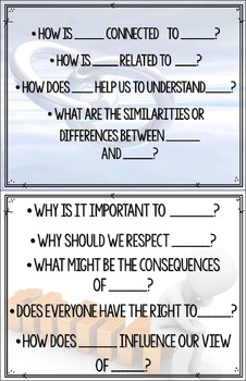 IB Key Concepts Question Stems, Posters and Puzzles