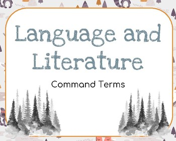 IB Language and Literature Command Terms