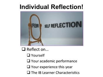 IB Learner Profile - 10 of 10 - REFLECTIVE Lesson