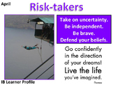 IB Learner Profile - 8 of 10 - RISK-TAKER Lesson