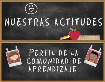 IB Learner Profile & Attitude Headers in Spanish tpt