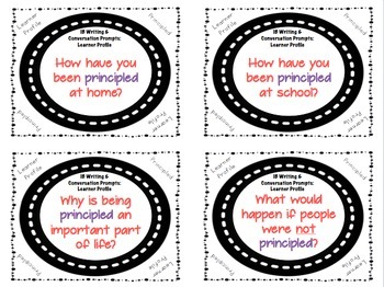 IB Writing and Conversation Prompts BUNDLE!