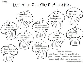 IB Learner Profile Attribute Posters & Character Traits - Cupcakes
