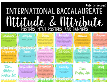 IB Learner Profile Attributes and Attitudes Poster and Ban