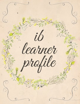 IB Learner Profile - Blank Flowers Template