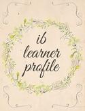 IB Learner Profile - Blank Flowers Template