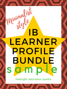 IB Learner Profile poster bundle - 10 modern graphic styles