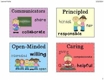 IB Learner Profile Characte... by Mom2punkerdoo | Teachers Pay ...