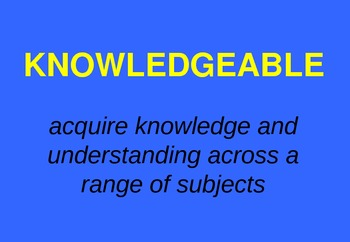 IB Learner Profile - Classroom Signs & Slideshow