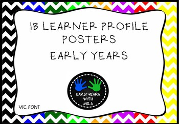 IB PYP Learner Profile Display - VIC Font #ausbts18