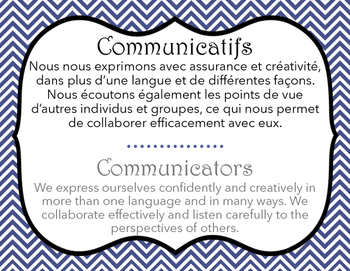Ib Learner Profile French And English Letter Size By
