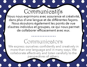 IB Learner Profile French and English (letter size)