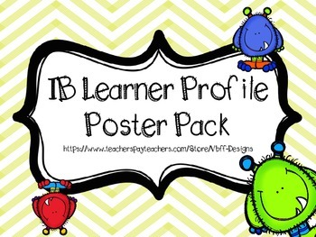 IB Learner Profile Poster Pack MONSTER Theme