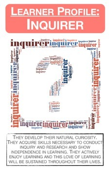 IB Learner Profile Characteristics Posters