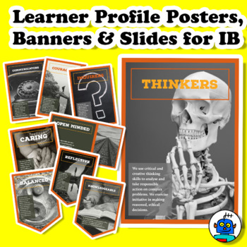 Learner Profile Posters, Banners (Pennants) and Slides for IB PYP, MYP, DP.