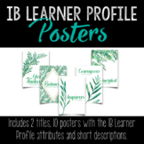 IB Learner Profile Posters with Compliment Activity • PYP, MYP or DP Programme