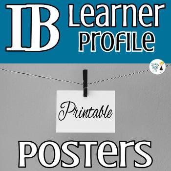 IB Learner Profile Printable Posters - Version 1