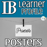 IB Learner Profile Printable Posters - Version 1