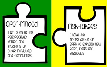 IB Learner Profile Puzzle Pieces