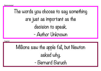 IB Learner Profile Quotes