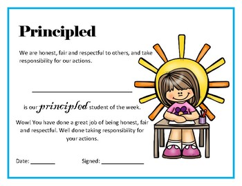 IB Learner Profile Raffle Tickets and Certificates