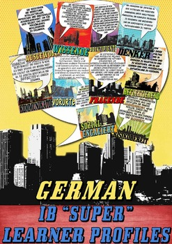 IB Learner Profile SUPER Posters in German for A4 Paper