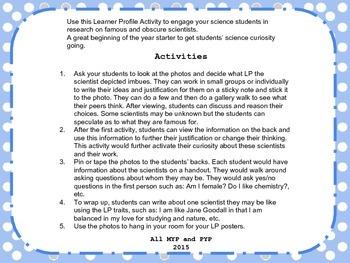 IB Learner Profile-Science Edition