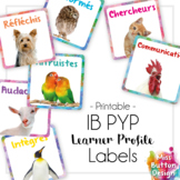 IB Learner Profile Square Labels - French