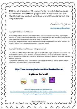 IB Learner Profile - Svenska