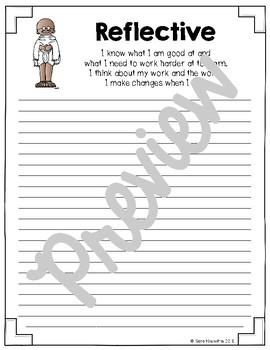 IB Learner Profile Writing Paper