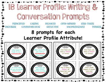 IB Learner Profile Writing and Conversation Prompts
