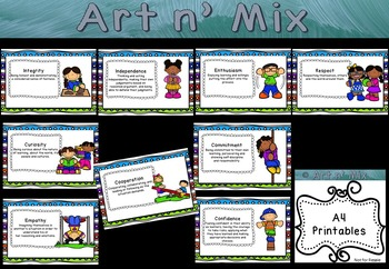 IB Learner Profile and Attitudes Active School Kids Combo Pack