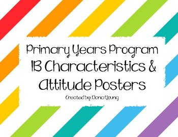 IB Learner Profile and Attitudes Posters
