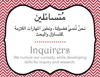 Ib learner profile in arabic and english letter size by design studio ib learner profile in arabic and english letter size stopboris Images
