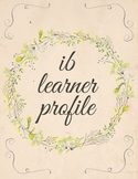 IB Learner Profile with Flower Design