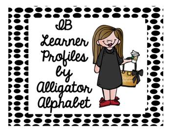 IB Learner Profiles Blk/Wht Polka Dots