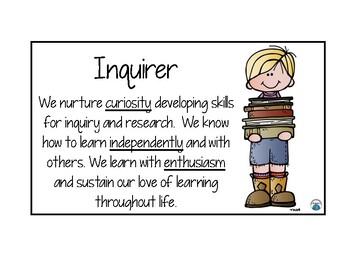 IB Learner Profiles for Upper Elementary